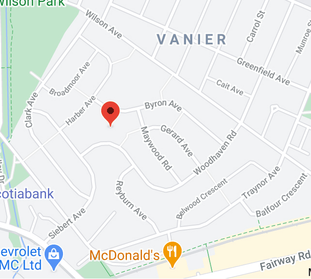 Kitchener location of Anishnabeg Outreach on google maps clickable image