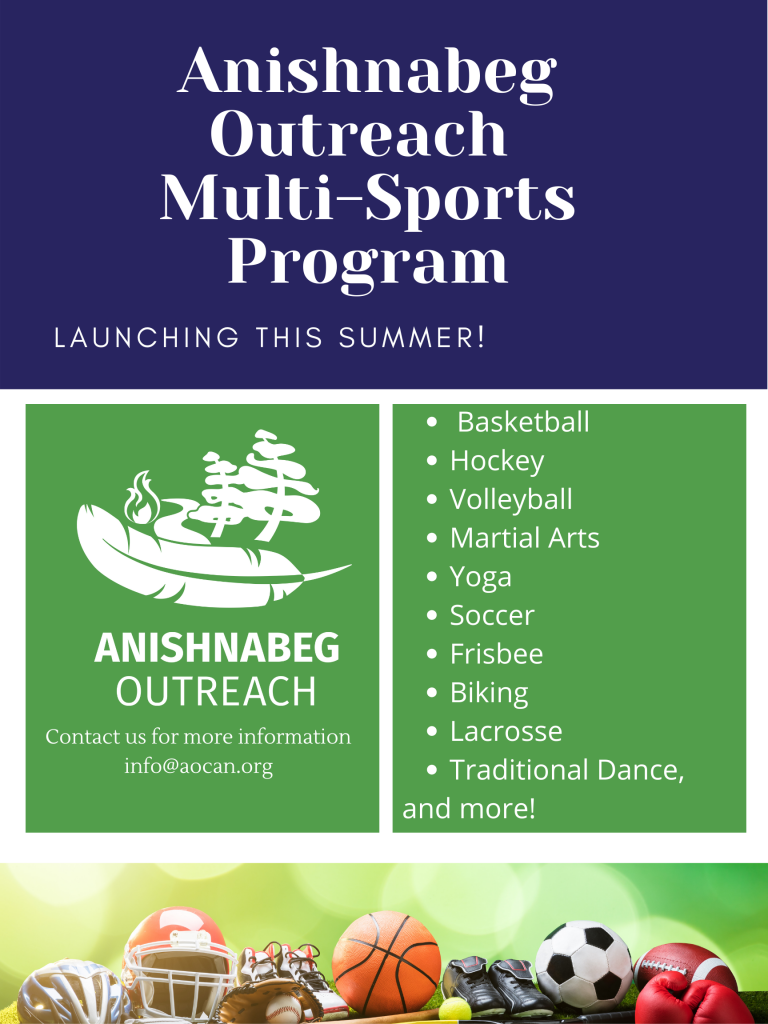 Flyer for our multi-sports program that includes what programs we are offering like basketball, hockey, volleyball.